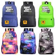 Grand vol GTA5, sac décole à la mode, sac décole pour garçons et filles, sac décole pour hommes et filles, sac décole pour adolescents