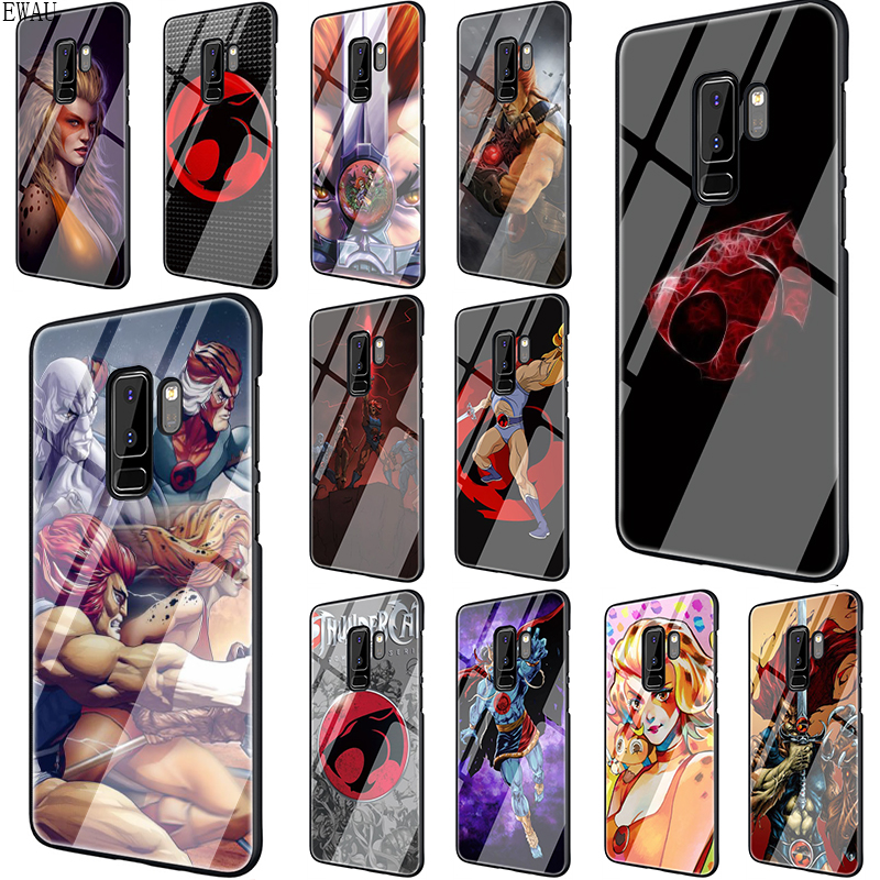 EWAU ThunderCats Tempered Glass phone case for Samsung S7 Edge S8 S9 S10 Note 8 9 10 Plus A10 20 <font><b>30</b></font> <font><b>40</b></font> <font><b>50</b></font> <font><b>60</b></font> <font><b>70</b></font> image