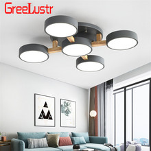Creative Art Wooden LED Chandelier Light Nordic Loft Chandeliers for Bedroom Living Room Modern Ceiling Lamp Luminaire Fixtures