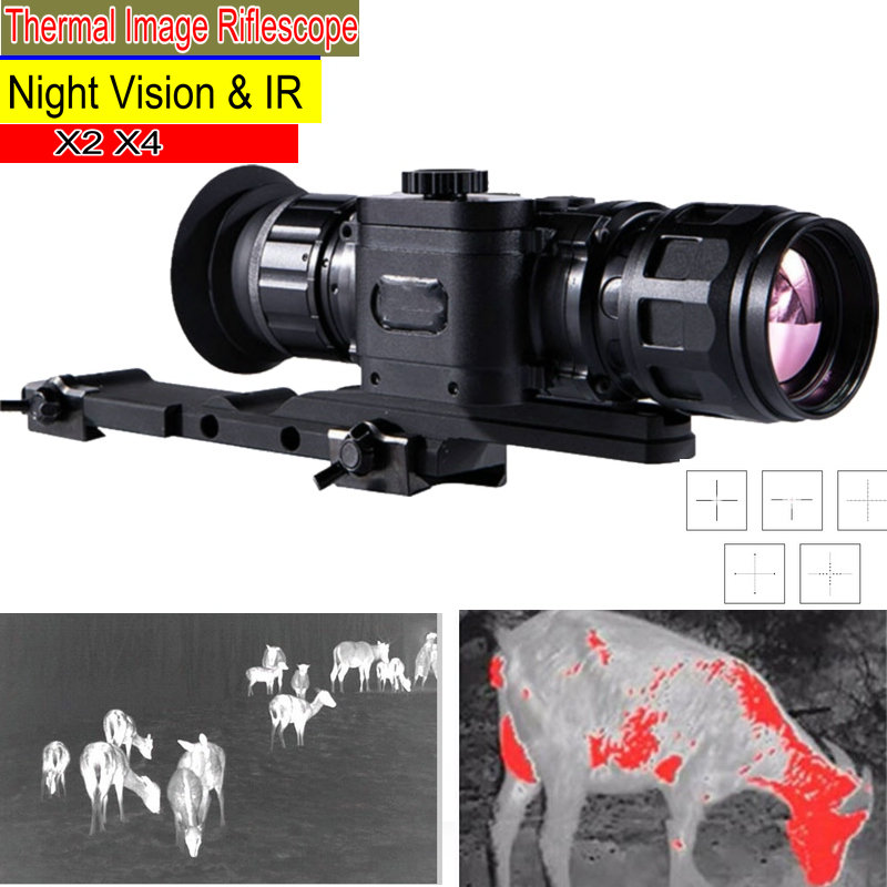 Thermal Image Riflescope Infrared Night Vision Riflescope Hunting Trail Sight Scope IR Cam NV Mocular Thermal Imaging Riflescope