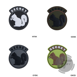 Tactical Secret Squirrel PVC Patches For Military Patch Armband Badge For BDU Cloth Backpack Cap Accessories