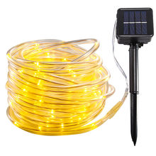 100 LEDS Fairy String Lights Holiday LED Lights Christmas Lights Outdoor Solar Waterproof Rope Tube LED Decoration Party Wedding(China)