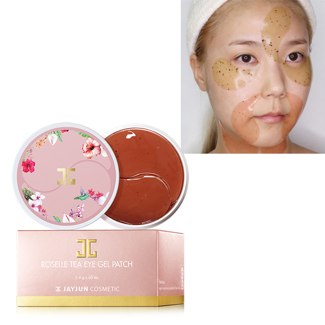 Korea Eye Mask Green Tea / Roselle Hydrogel Eye Gel Patch Under Eye Mask 60 Pcs