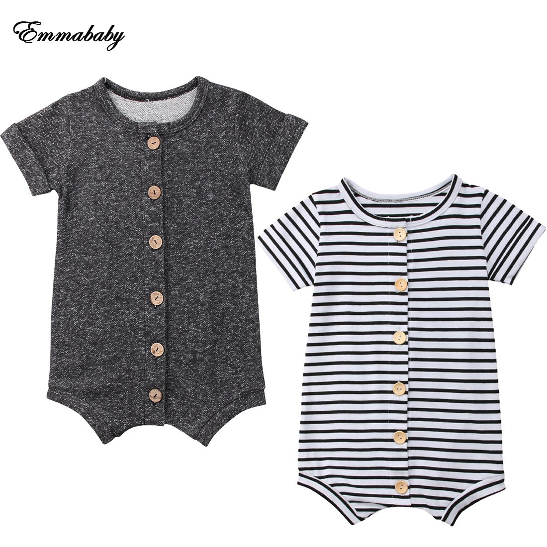 NEW 2020 Newborn Infant Baby Boy Girl Romper Bodysuit Jumpsuit Outfits Overall Clothes