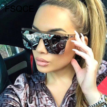 oversized flat top sunglasses women luxury 2019 unique mens