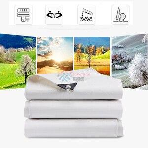 Image 4 - Tewango 헤비 듀티 방수 타포린 두꺼운 캔버스 야외 차양 차양 천으로 자동차 커버 베란다 파티오 지붕