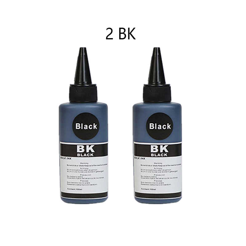 ASW X4 أسود 100 مللي مجموعة حبر صبغ الملء لإبسون لكانون ل HP ل Brother ل Lexmark للطابعة ديل ل كيبك الحبر