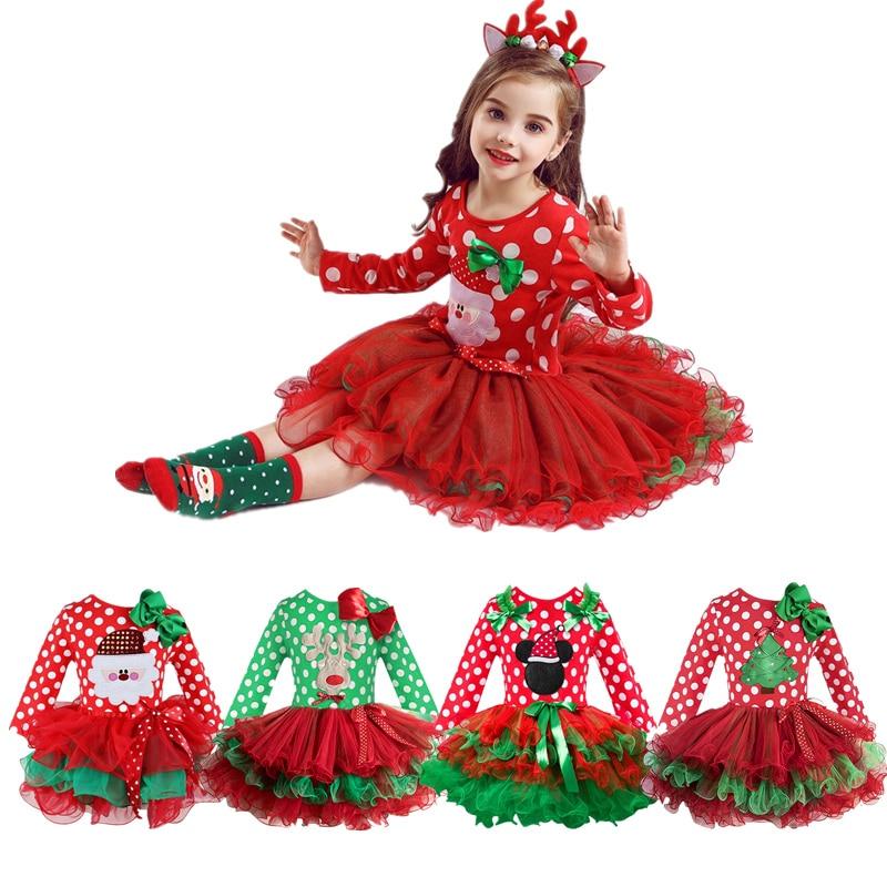 254 28 De Descuentovestido Tutú De Navidad Niños Fiesta Santa Claus Reno Disfraz Regalo Bebé Invierno Muñeco De Nieve Vacaciones Año Nuevo Niña