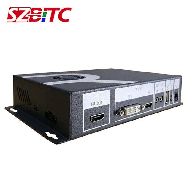 SZBITC دوران الفيديو تحكم دوران 90 180 270 360 درجة USB/HDMI/DVI/Audio 1080P معالج الفيديو مع جهاز التحكم عن بعد