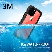 Redpepper IP69K מקרה עמיד למים עבור iphone 11 / 11 פרו/11 פרו Max XR XS מקסימום מתחת למים 3m מים הוכחה עמיד הלם מקרה קשה