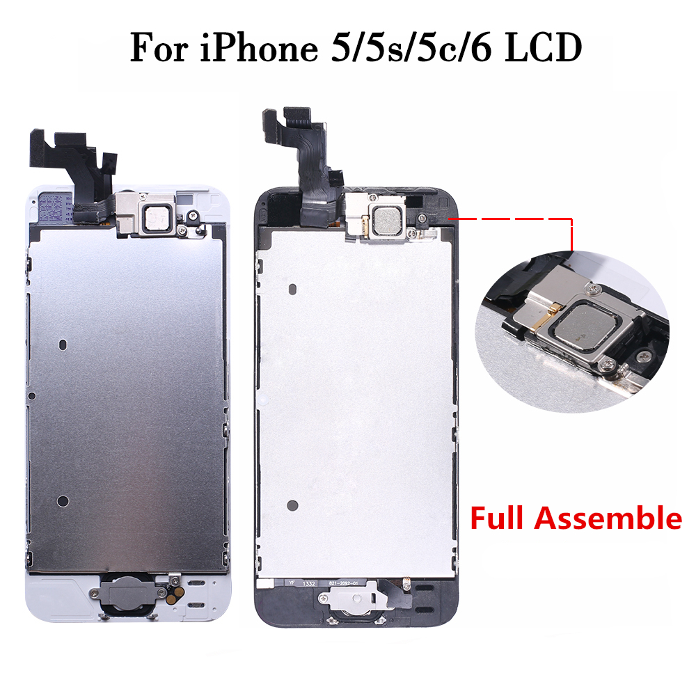 For <font><b>iPhone</b></font> 6 <font><b>ecran</b></font> complet LCD Full Assembly For <font><b>iPhone</b></font> <font><b>5</b></font> 5S SE 5C LCD Display Touch Screen+Home Button+Front Camera+Speaker image