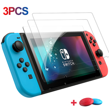 3PCS Unbreakable High Hardness Tempered Glass For Nintendo Switch Screen Protector For Nintendo Switch NS HD Protective Film