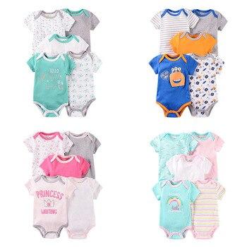 2020 Summer 5PCS/Set Newborn Baby Unisex Cotton Clothes Girls Cotton Cute Breathable Boy Toddler Infant 0-12M ropa de bebes