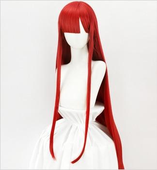 HSIU Game FGO Oda Nobunaga Wig Fate / Grand Day 6 Demon Red Halloween dress red long straight hair Fiber synthetic wig