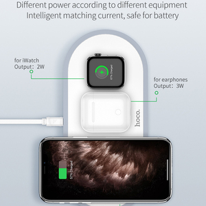 Image 4 - HOCO 3in1 Wireless Charger for iphone 11 Pro X XS Max XR for Apple Watch 5 4 3 Airpods Pro QI Fast Charger Stand For Samsung S20