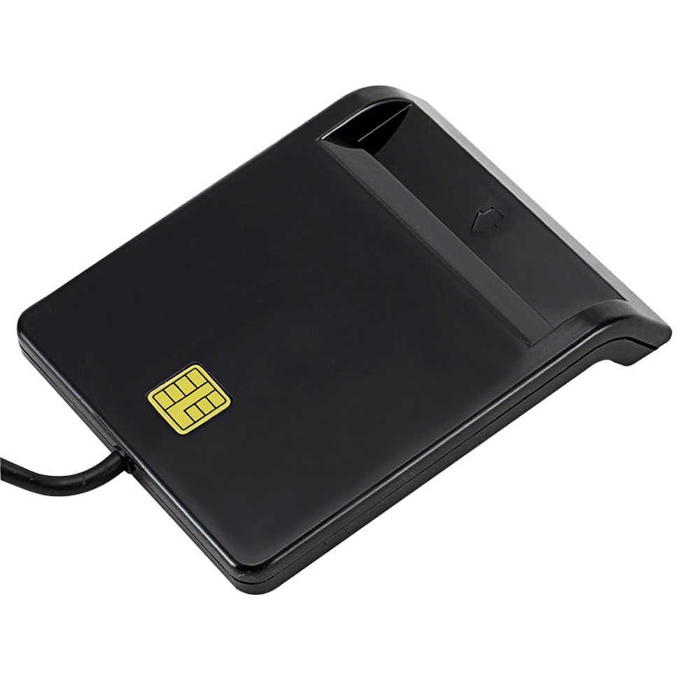 USB akıllı kart okuyucu banka kartı için IC/ID EMV kart okuyucu için yüksek kalite Windows 7 8 10 Linux OS USB-CCID ISO 7816