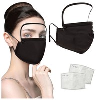 Facemask With Filter And Detachable Eye Shield Mascarillas Cotton Masks Masque Unisex Mouth Mask
