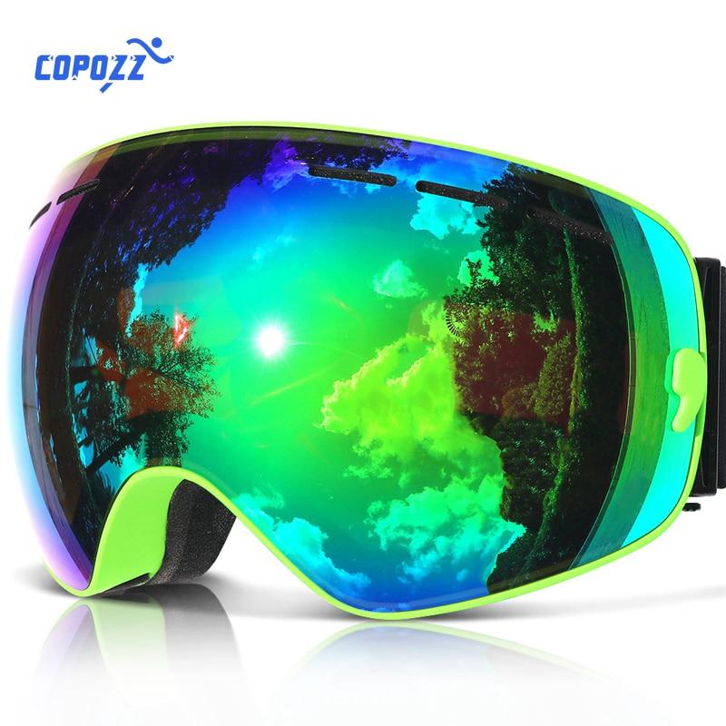 COPOZZ Brand Skiing Goggles Men Women Snowboard Goggles Glasses For Skiing UV400 Protection Snow Ski Glasses Anti-fog Ski Mask