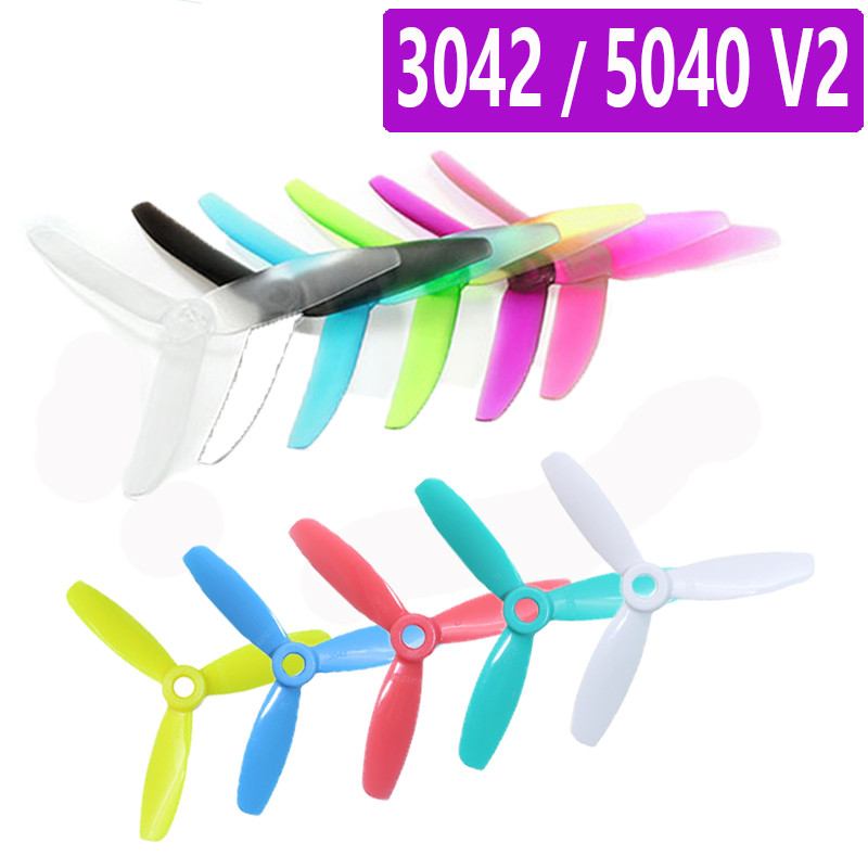 10 Pairs GEPRC 5040 V2 / 3042 5Inch/3x4.2 Inch CW CCW 3 Blade Propellers For RC Quadcopter Models Toys Spare Part DIY Accs