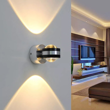 6W LED colorful wall lamp, aluminum upper and lower indoor lighting wall lamp, for bedside living room bedroom wall lamp