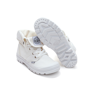 Image 2 - AT UR HAND 2019 Fashion Sneakers Female High Top Canvas Shoes Women Casual Shoes White Flat Female Lace Up Solid Trainers