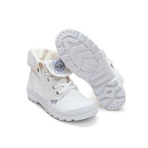 Image 2 - OP UR HAND 2019 Fashion Sneakers Vrouwelijke Hoge Top Canvas Schoenen Vrouwen Casual Schoenen Witte Platte Vrouwelijke Lace Up Solid trainers