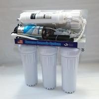 Conjunto 1 400gpd osmose reversa filtro de água sistema de osmose reversa máquina de água Pura ro água bomba clorador sal
