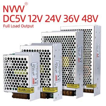 NVVV Switching Power Supply Mini MS-15w-350w AC 110v/220v DC 5v 12v 24v 36v 48v Safety Monitor DC Source Power Adapter 350w 36v 9 7a switch power supply cnc router single output power supply 350w 36v foaming mill cut laser engraver plasma