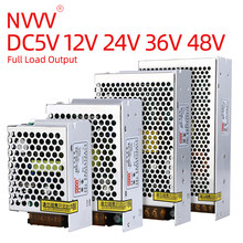 NVVV Switching Power Supply Mini MS-15w-350w AC 110v/220v to DC 5v 12v 24v 36v 48v DC Source Power Adapter For Led Strip CCTV