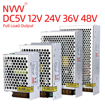цена на NVVV switching power supply mini ms-15w-350w ac 110v/220v dc 5v 12v 24v 36v 48v safety monitor 220v dc adapter