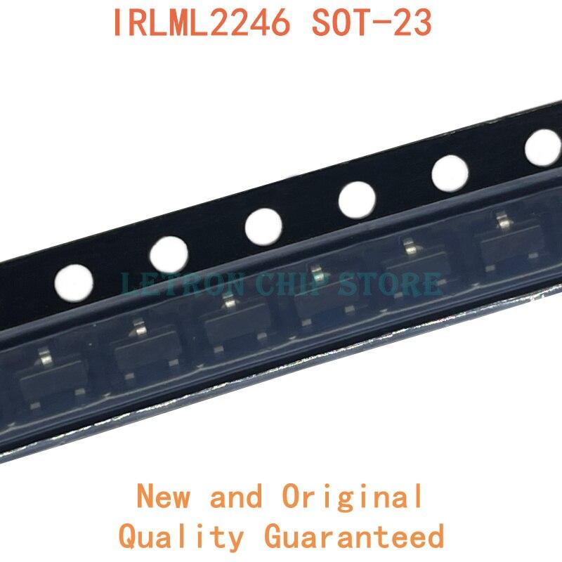 50 шт. IRLML2246TRPBF SOT-23 SOT23 P-CH 2.6A 20V SMD MOSFET Новый и оригинальный чипсет IC