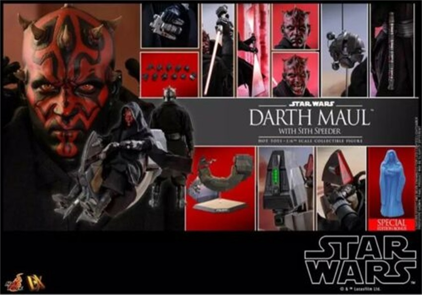 Hot Toys 1/6 DX17 Star Wars The Phantom Menace Darth Maul With Sith Aircraft 12