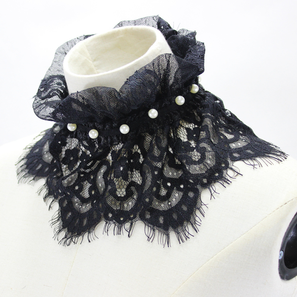 Nail Pearl Lace Dickie Decoration Lead Detachable Fake Collar New Free Shipping Shirt Women Wholesale