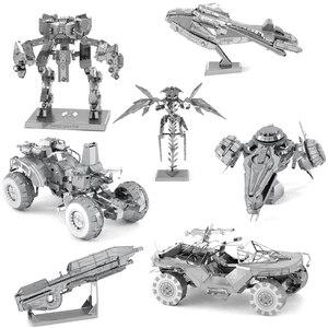 HALO 3D Metal Puzzle Unsc Model kits DIY Laser Cut Assemble Jigsaw Toy Desktop decoration GIFT For Audit children