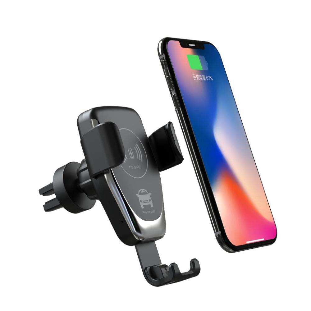 15W Wireless Car Charger Phone Air Vent Holder Stand For IPhone Samsung Huawei
