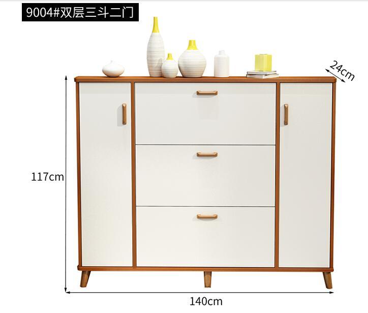 Ultra-thin Shoe Cabinet 17CM Bucket Hallway Cabinet Simple Home Economy Shoe Cabinet Multi-functional Space Saving Door Paint