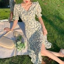 Eam – robe de soirée à fleurs pour femmes, tenue de bureau rétro, Vintage, Sexy, Harajuku, nouvelle collection été 2021