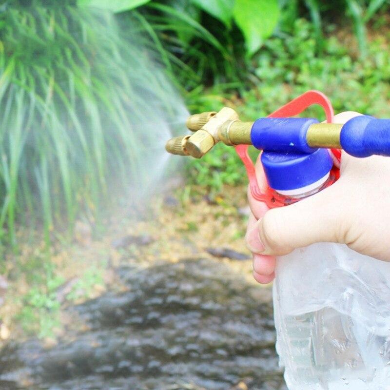 29 см медь бутылка соединение вода маленький спрей насадка насос пистолет спрей головка распылитель сад дом необходимое инструмент сад принадлежности