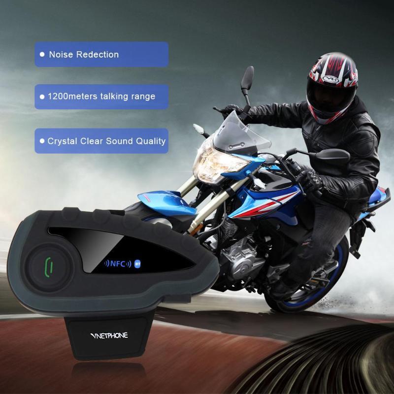 Bluetooth Headset Fernbedienung Griff NFC Spiele Handy Motorrad BT Wireless Intercom FM V8 5 Reiter Helm - 4