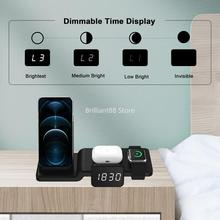Wireless Charging Station, 15W 5-in-1 Wireless Charger for Mobile Phone