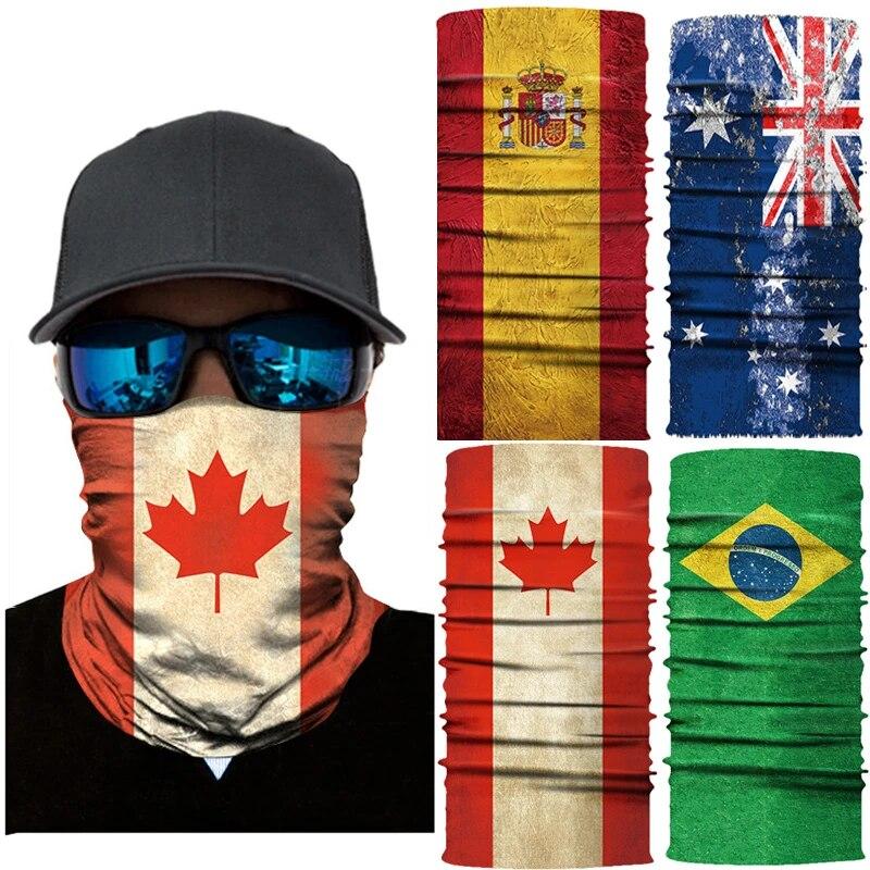 Face Scarf Bandana National Flags Balaclava Neck Cycling Hiking Sport Headwear