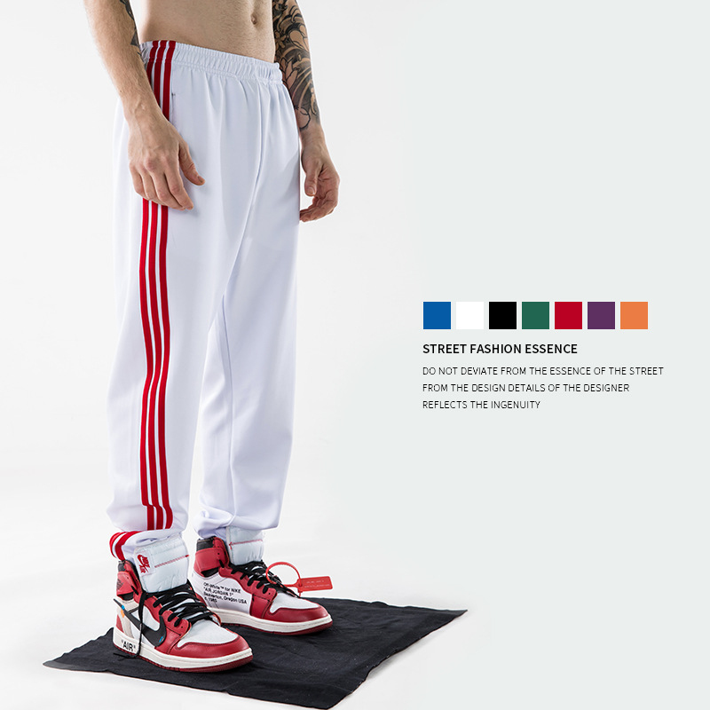 2019 Europe And United States Tide Brand Autumn  Men Pants Classic Three Bars Sports Long Pants Hip Hop Streetwear Casual Pants