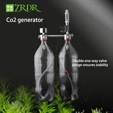 ZRDR аквариум DIY CO2 генераторная система комплект с регулировкой давления воздушного потока водное растение аквариум СО2 Соленоидный клапан