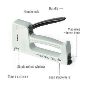 Image 2 - Светильник WORKPRO для маникюра ручной штапельный пистолет для мебели пластиковый степлер с 800 скобами 6 мм/8 мм/10 мм и штапельного удаления