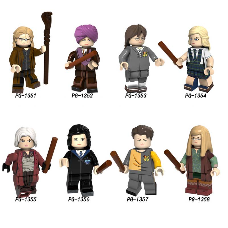 Single Building Blocks Magic Movie Alastor Moody Quirinus Quirrell Moaning Myrtle Malfoy Cedric Collection Toys For Children