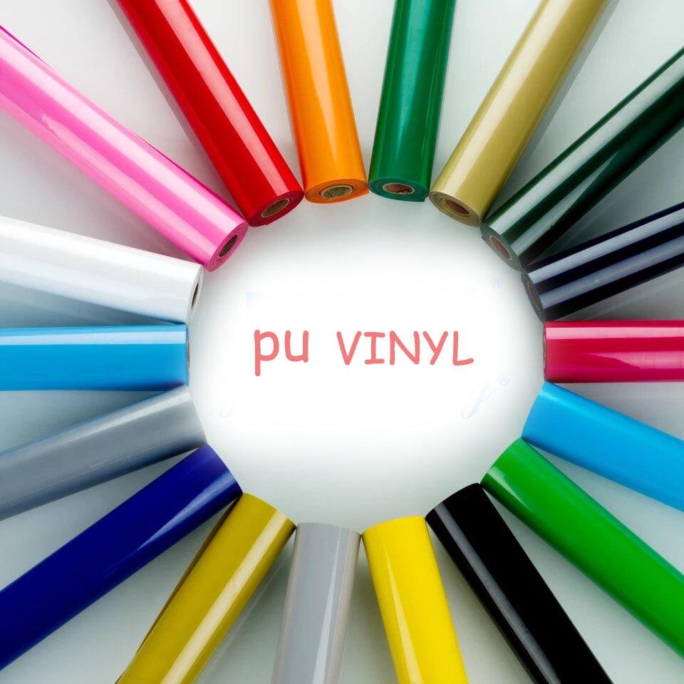 Fri frakt 1 ark 30 cm x 25 cm PU Värmeöverföring Vinyl T-shirt Järn på HTV-utskrift