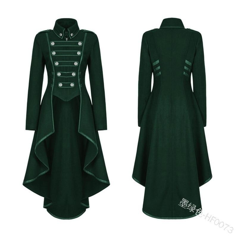 H31721c09b8564670baf1bac68500fcebQ JIEZuoFang Black Medieval Dress For Adult Women Punk Victorian Retro Costume Renaissance Gothic Jacket Tuxedo Halloween Costumes