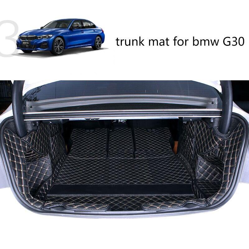 Lsrtw2017 alfombra de cuero de lujo para coche estera de carga para bmw G20 3 series 330 335 325 320 alfombra Interior accesorios de la etiqueta engomada
