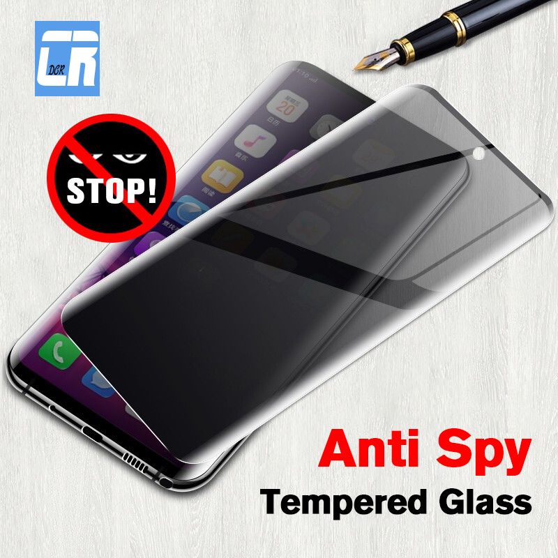 6D Anti Spy Full Cover Tempered Glass For Samsung Galaxy Note 9 8 10 Pro Screen Protector For Samsung S8 S9 S10 Privacy Film
