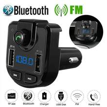 Bluetooth 4.2 MP3 Speler Handsfree Car Kit Fm-zender Ondersteuning Tf Card U Disk QC2.0 3.1A Snelle Dual Usb Charger power Adapter(China)